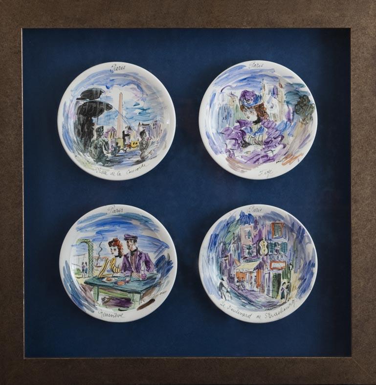 José Frau - plato - 4 platos ⌀ 20 cm (65x54 cm) · platos