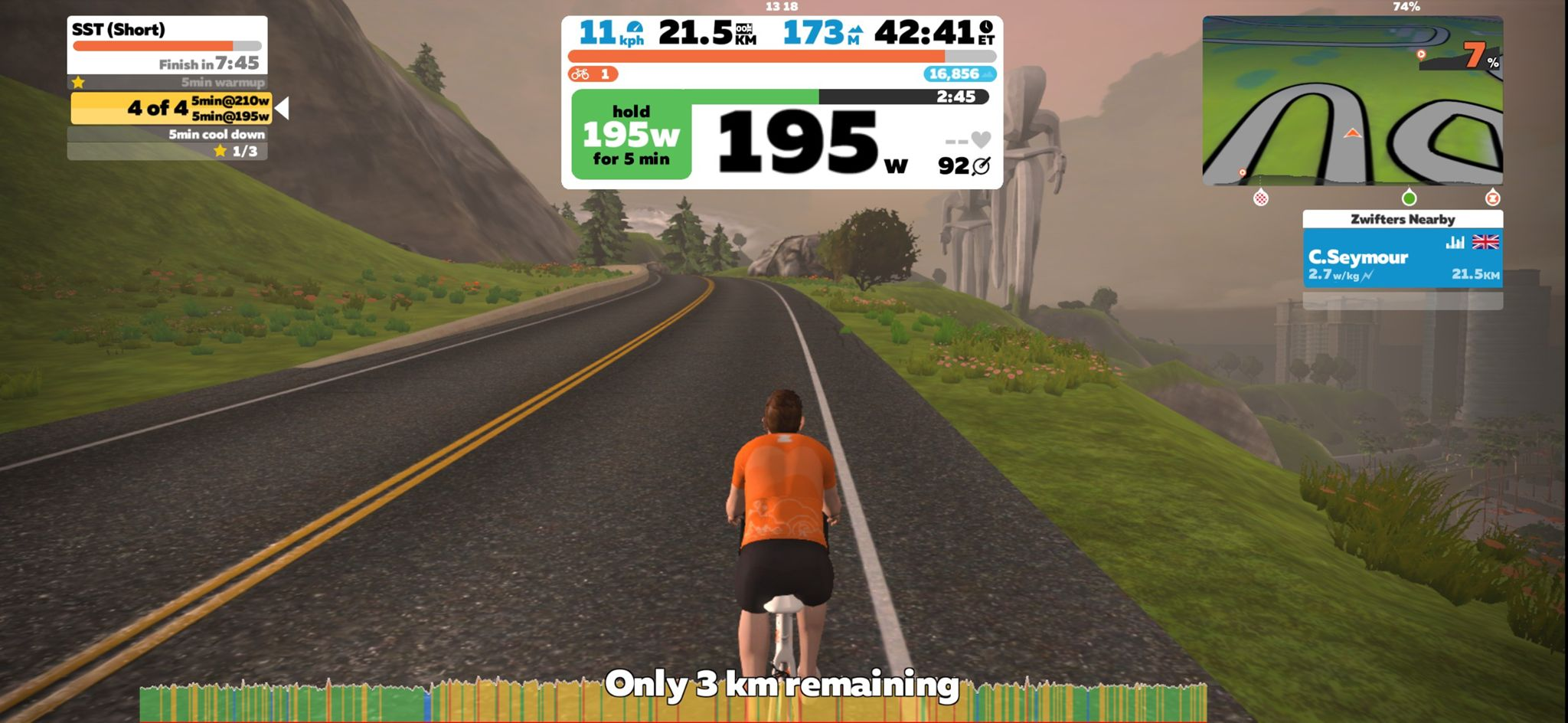 My first Zwift ride
