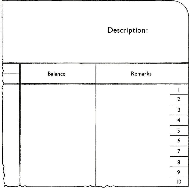 Form with Description field. Two columns for Balance and Remarks. Remarks column has sections for numbers 1 to 10.