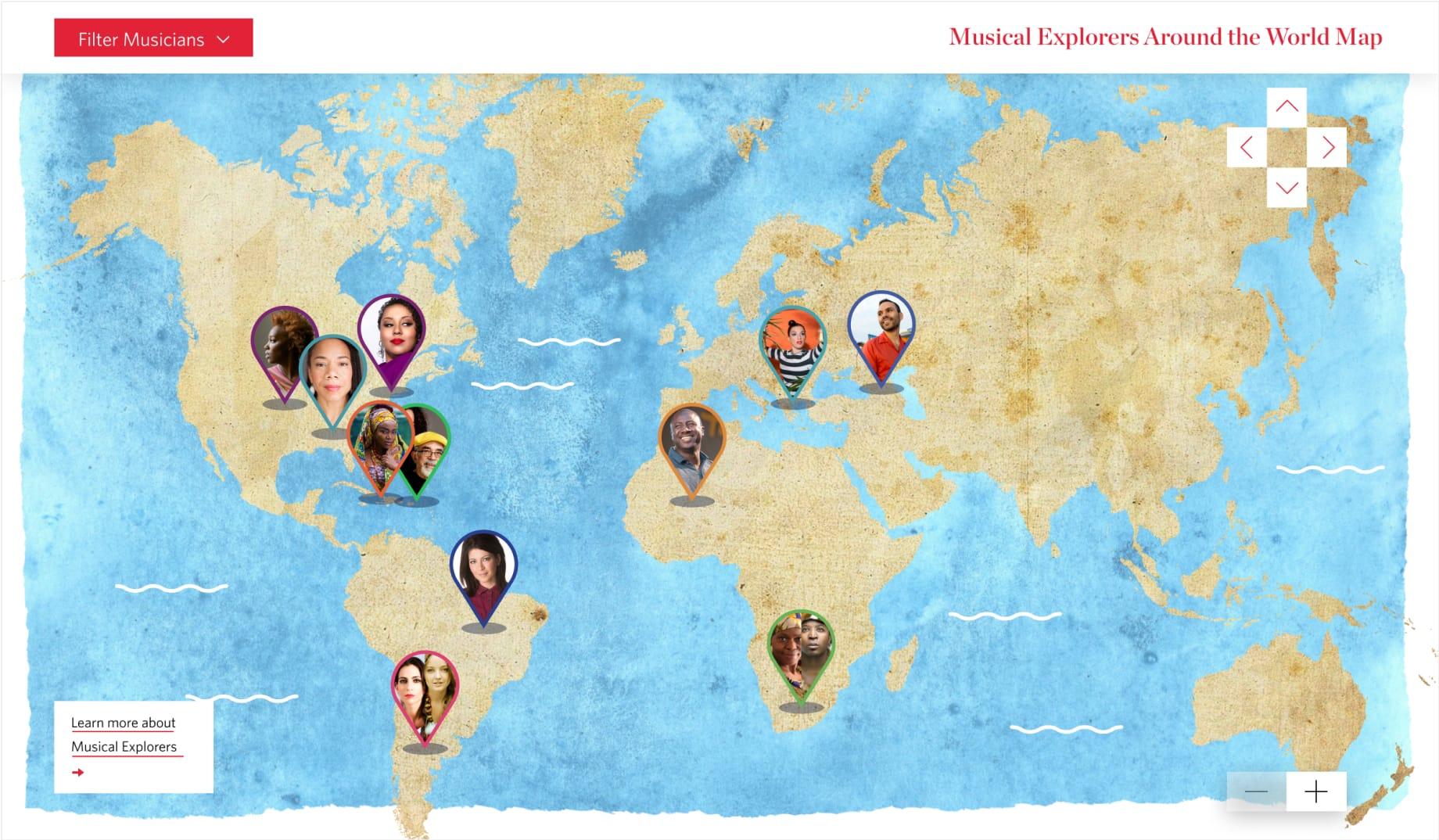 Explorers Map Homepage
