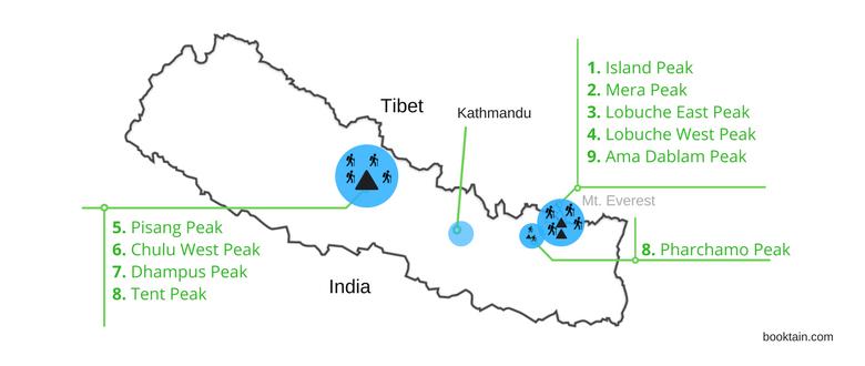 trekking peaks in Nepal - cover image