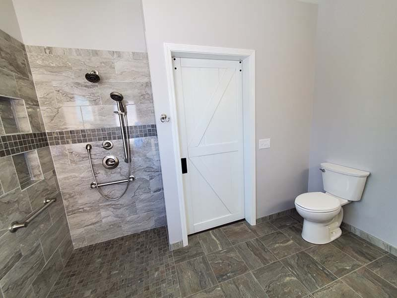 walk-in shower after a remodel by CorHome