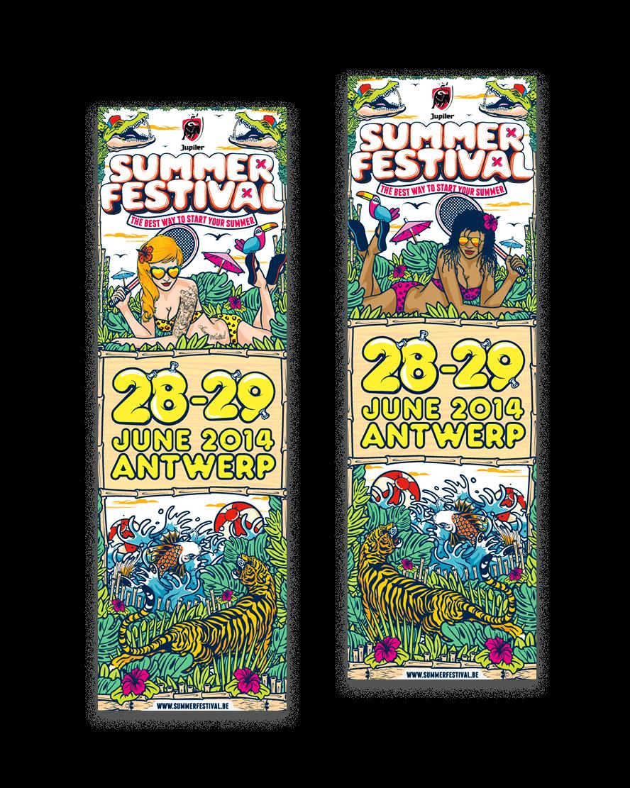 Bert Deckers Creative Summer Festival web banners