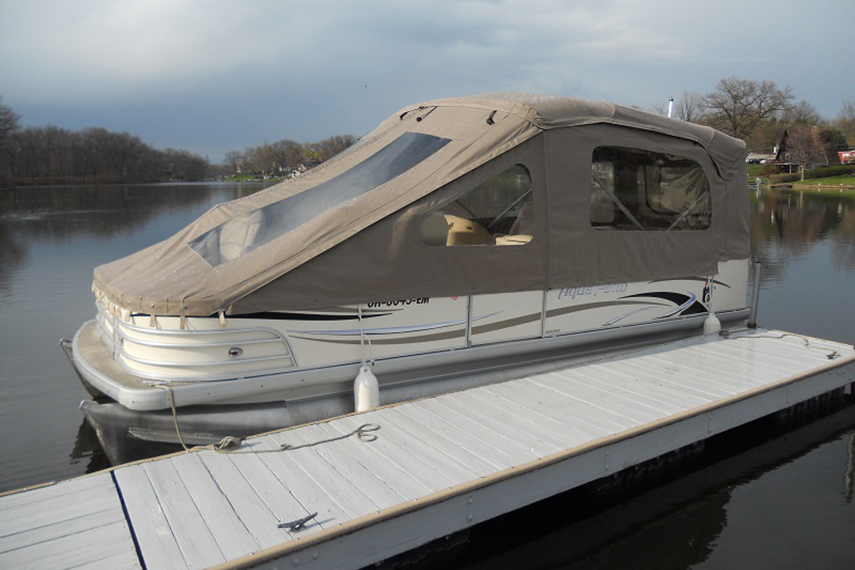 Pontoon Boat Enclosures >> Quality Boat Covers Dougs Upholstery