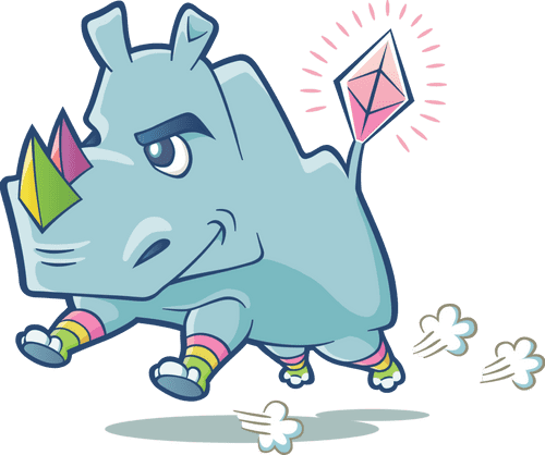 Image of the Rhino mascot for the eth2 launchpad.