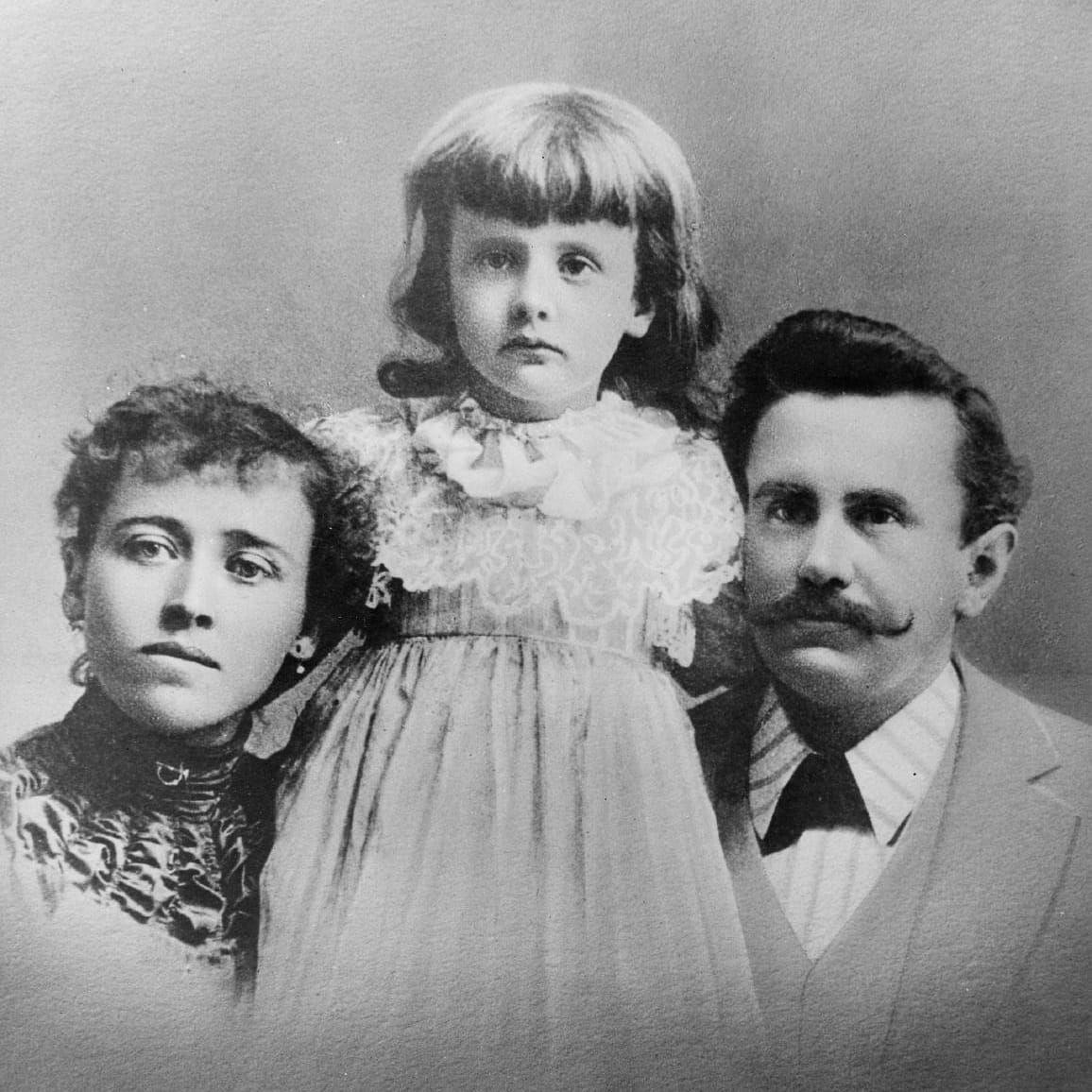 Уильям Сидни Портер (О. Генри) с женой Атоль и дочерью Маргарет. Источник: wikipedia.org