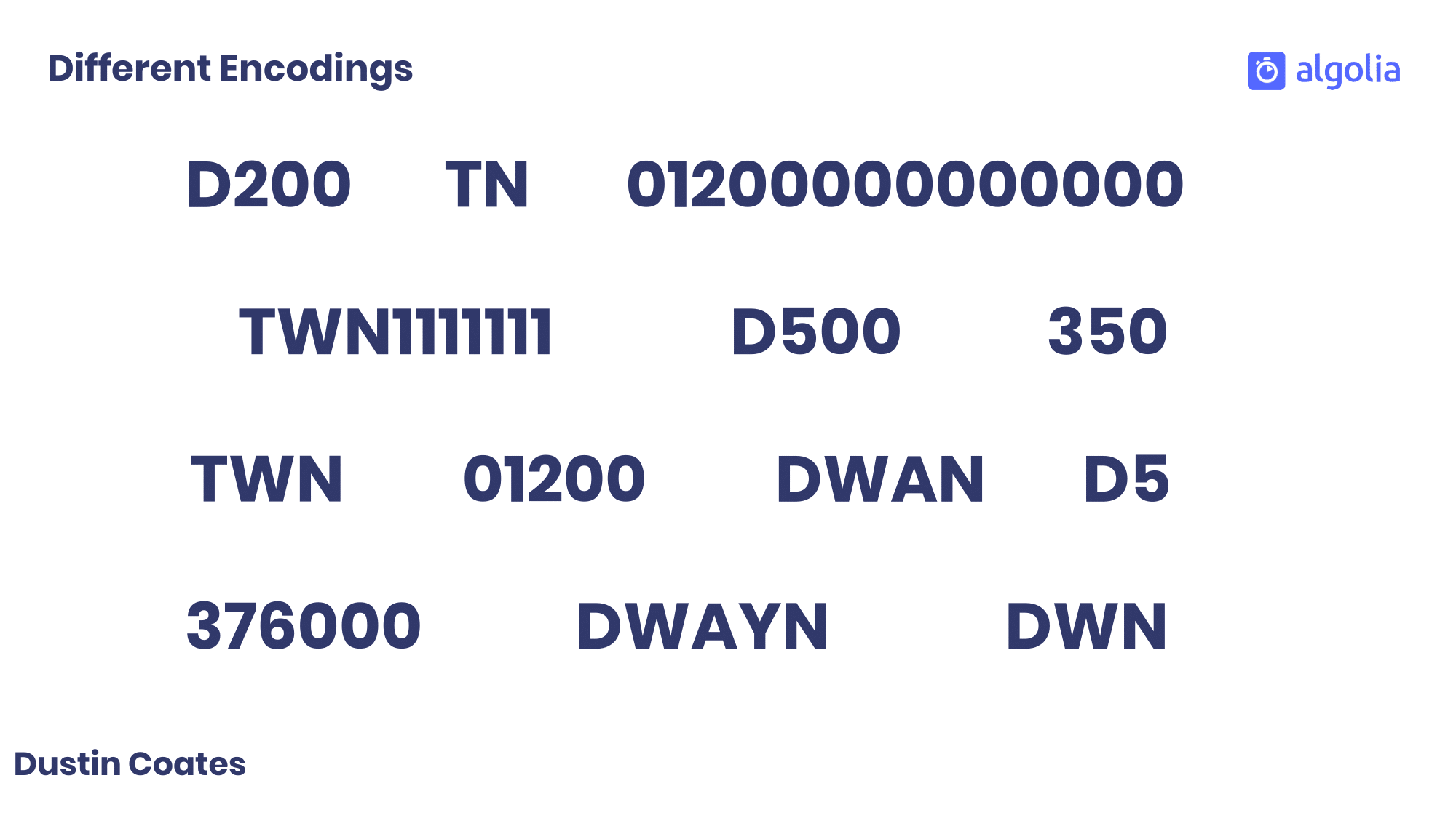 Different phonetic encodings for Dwayne