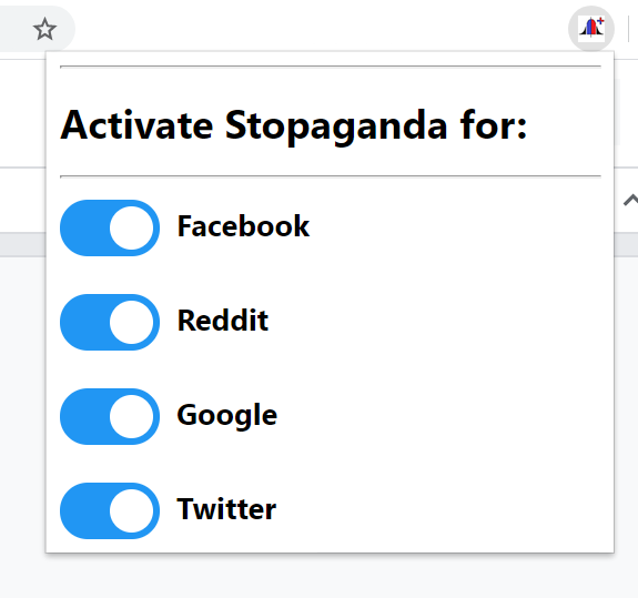 StopagandaPlus Configuration
