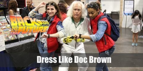 Doc Brown is your typical absent-minded mad scientist, always tinkering with this and that. He also dresses like your typical mad scientist, crazy white hair and lab coat included