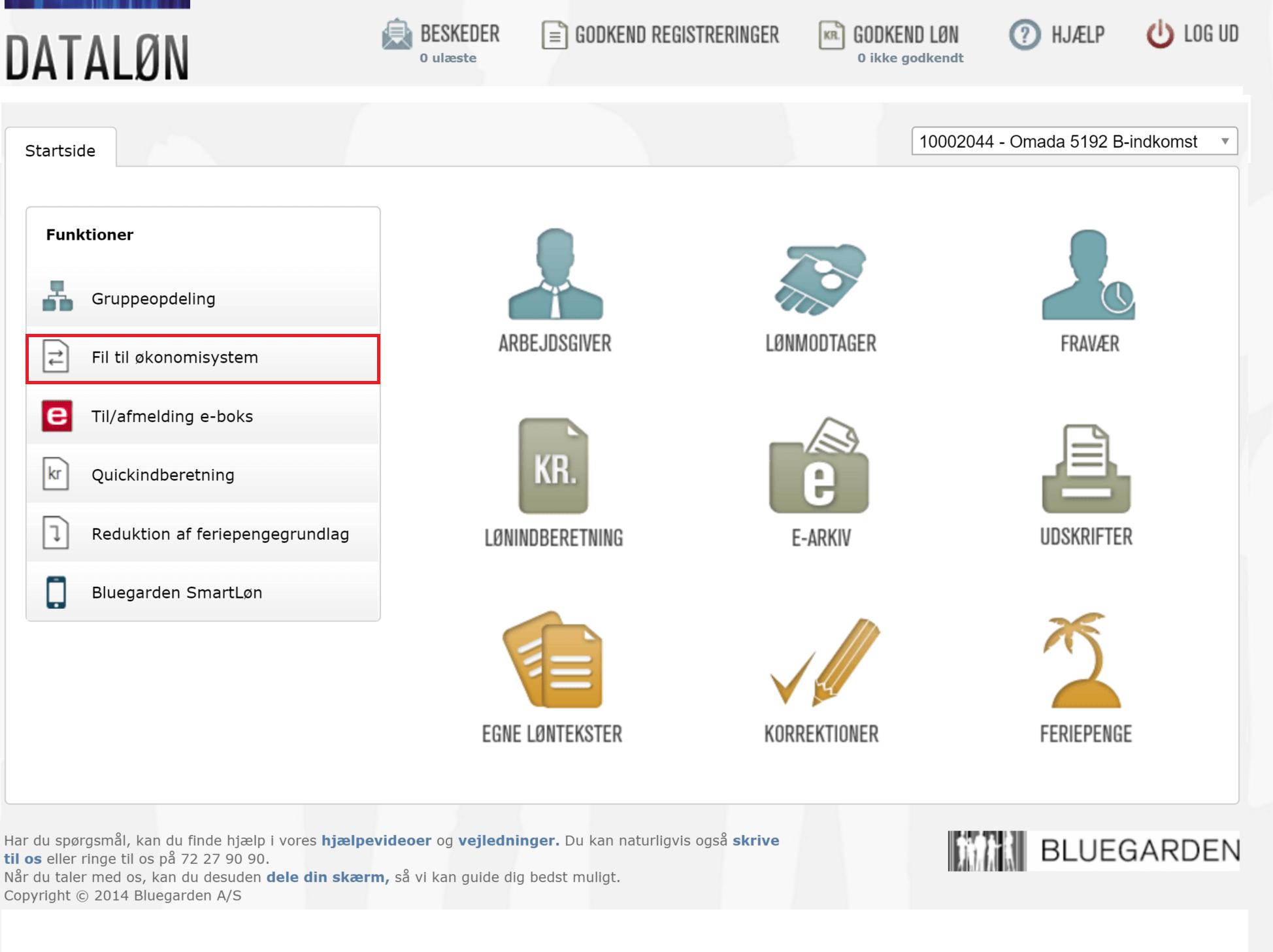 Integration med Dataløn