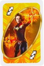 Marvel Avengers (2018) Yellow Uno Reverse Card