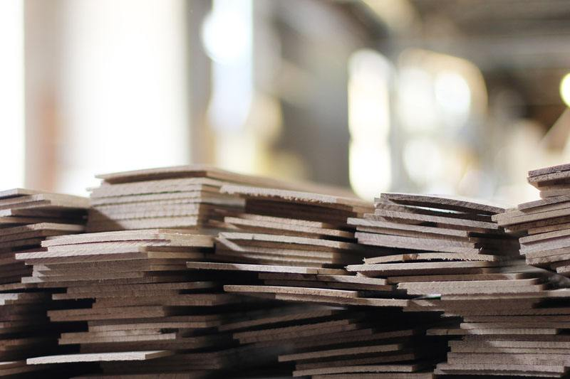 sfrido di produzione di legno sottile