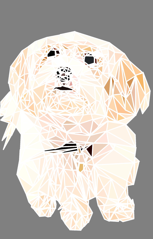 jeff the dog mosaic