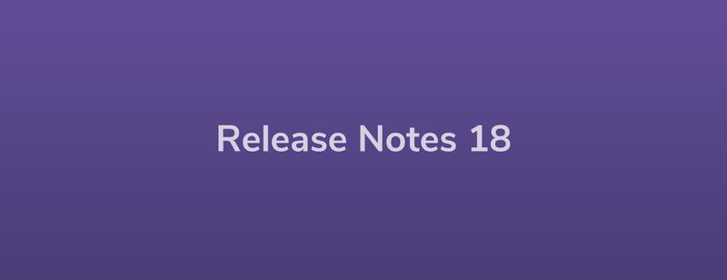 Release Notes: DevRel18