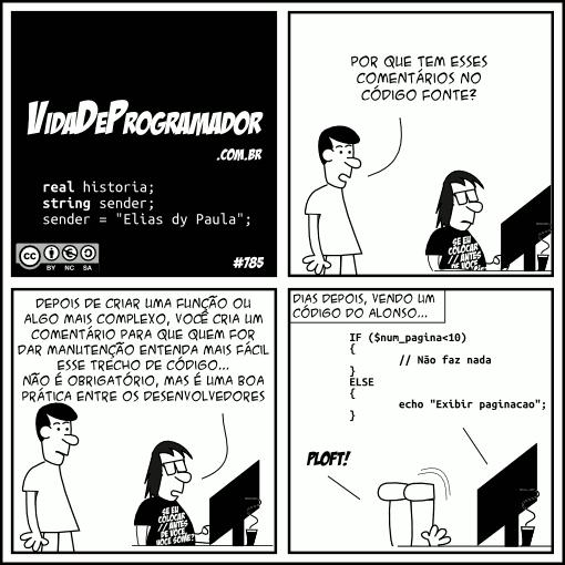 Comentários no código