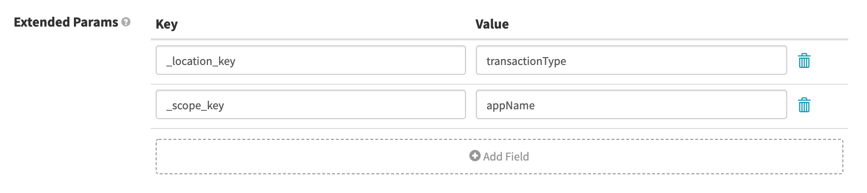 Extended Params for New Relic
