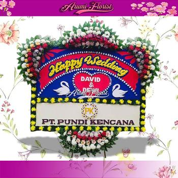 Bunga Papan Happy Wedding 20