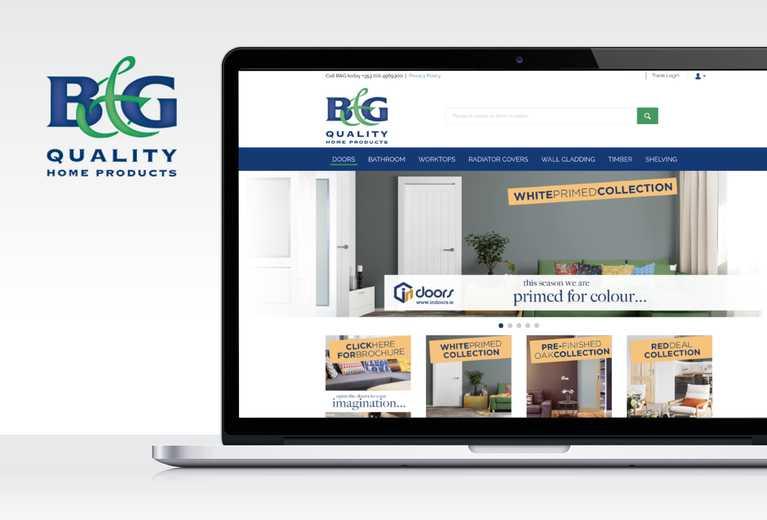b and g website screenshot