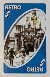 Disney Theme Park (2005) Blue Uno Reverse Card