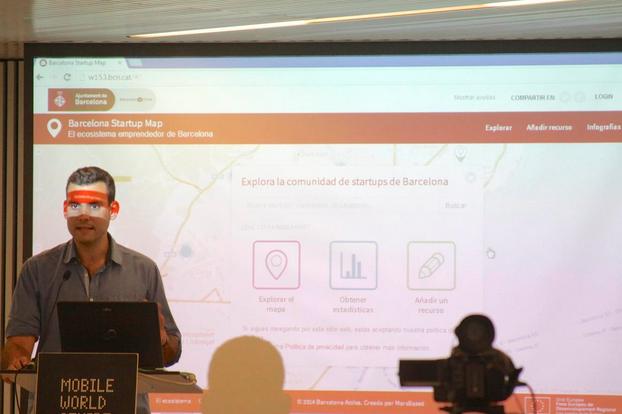 Xavier Redó presenting the Barcelona Startup Map