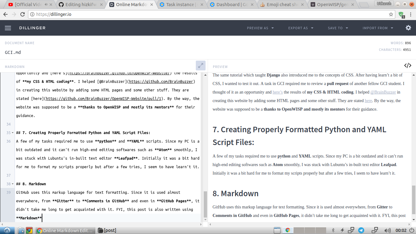 A basic MarkDown example