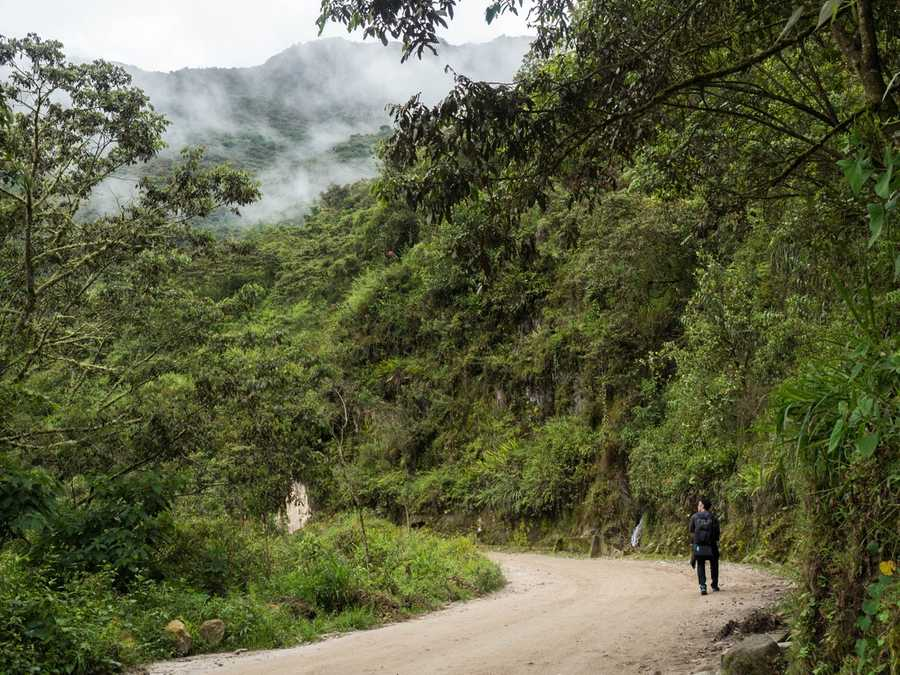 Hiking from Aguas Calientes
