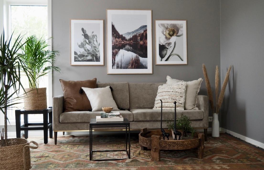 Lekker stue i kelim-stil