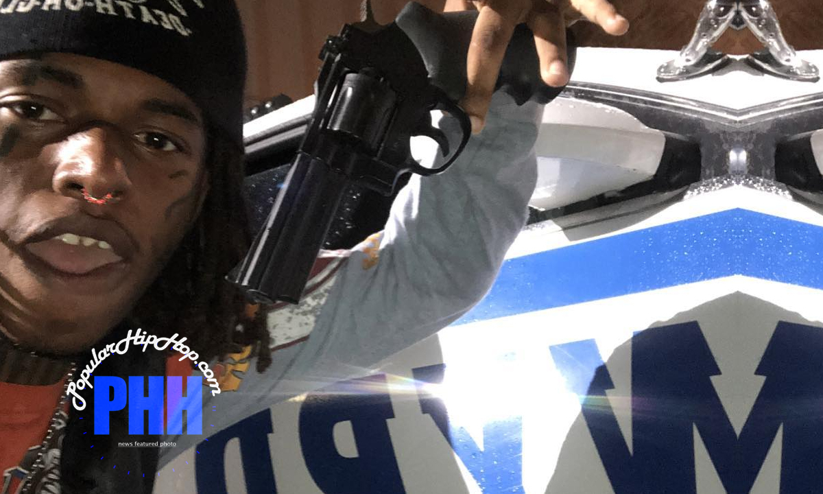 Zillakami Posing With Gun In Front of NYPD Police Car