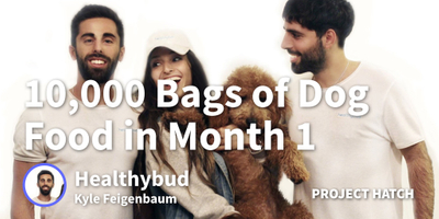 featured image thumbnail for post How we sold 10,000 bags of dog treats in our first month