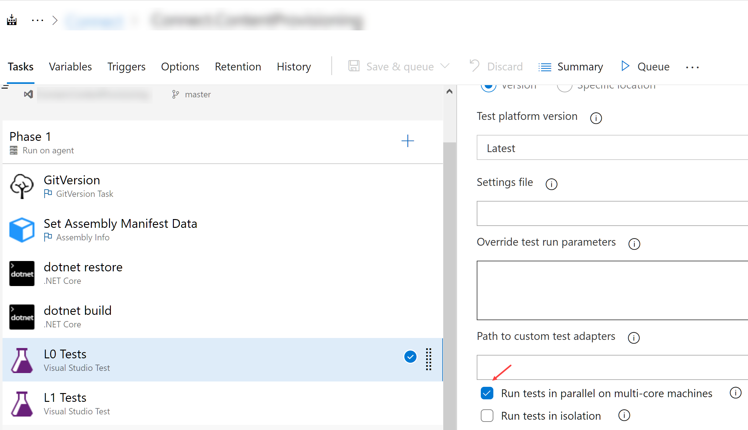 Enable parallel test execution in Azure DevOps