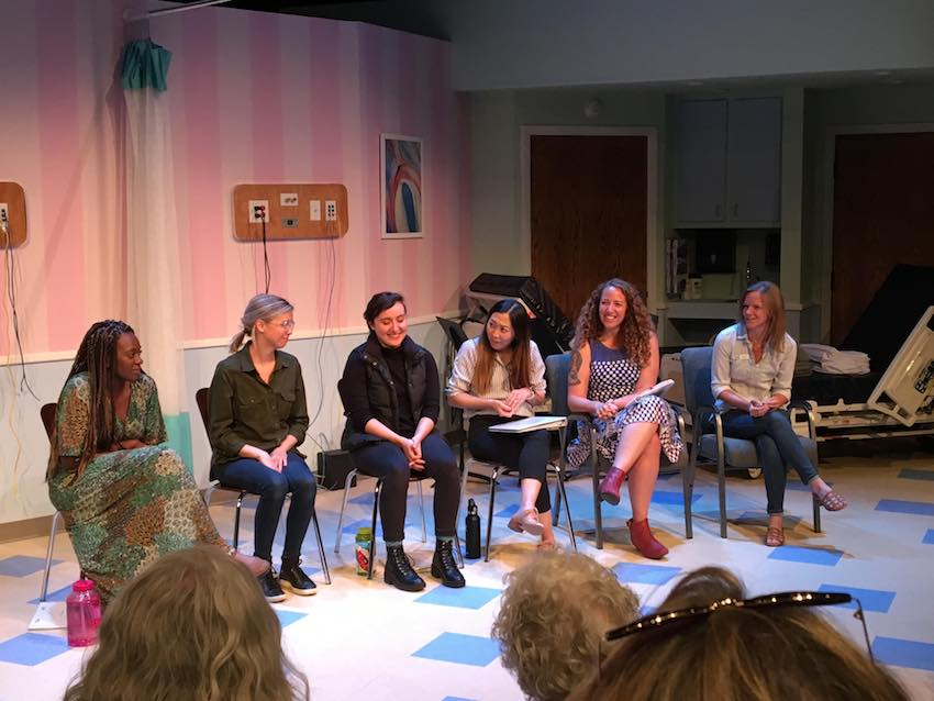Photo from the talk back of Salt Lake Acting Company's staged reading of BURST.