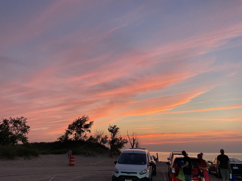 A sunset in Michigan.