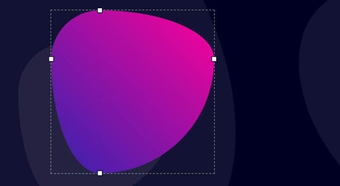 CSS Shape Radius Blog Banner