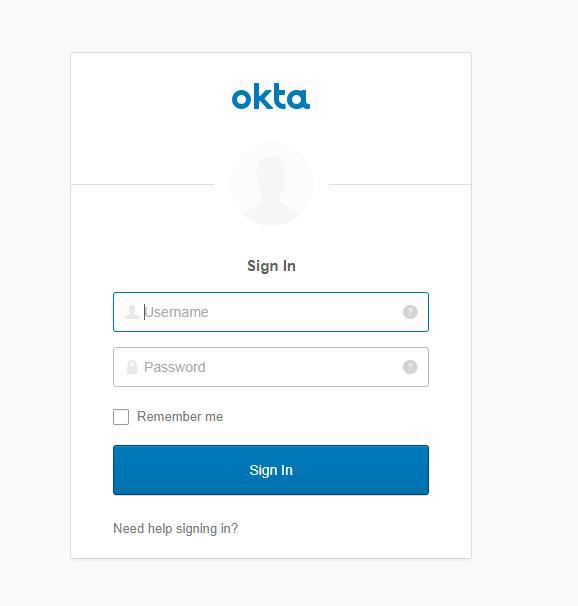 Okta sign in