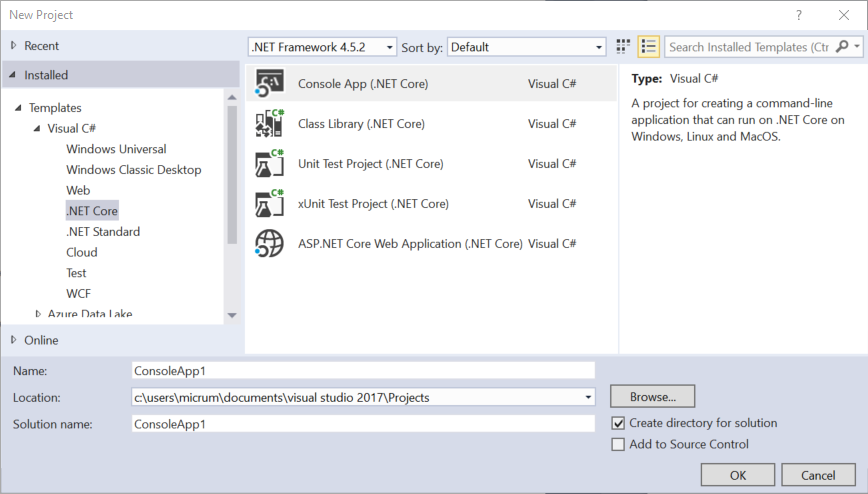 Day 11 - Exploring  NET Core with Visual Studio 2017 and the