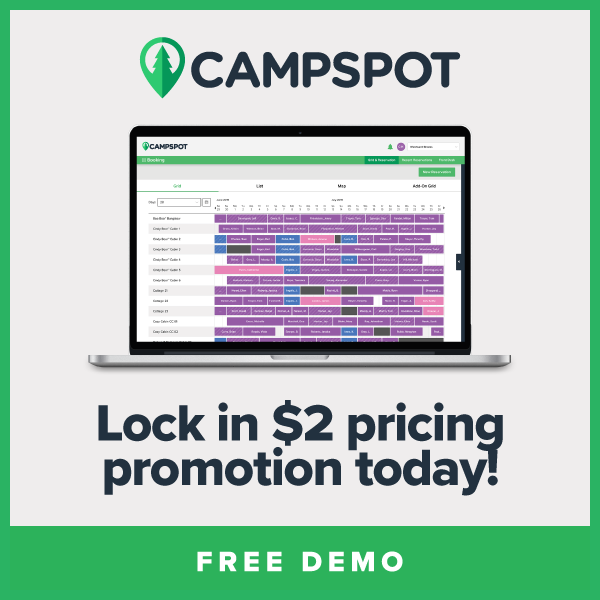 Campspot: Increase your park's revenue by 40%. Learn more!