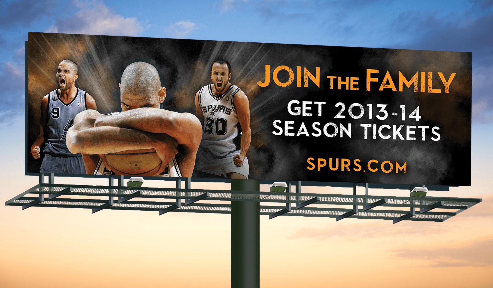 Spurs Family Billboard