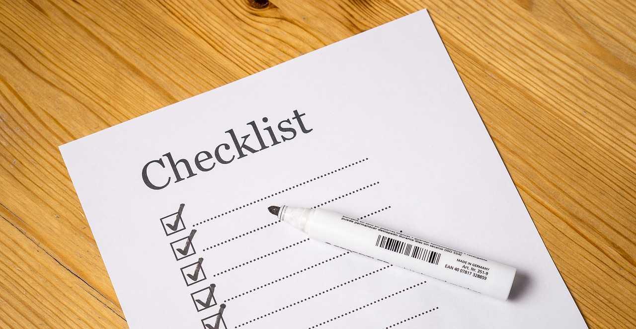 Checklist de départ cover image