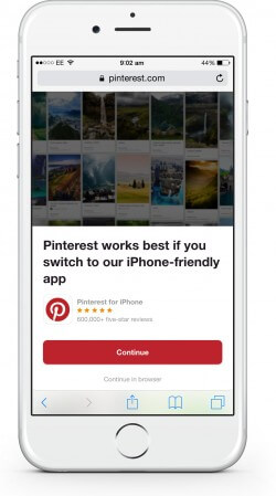 Pinterest App Interstitial