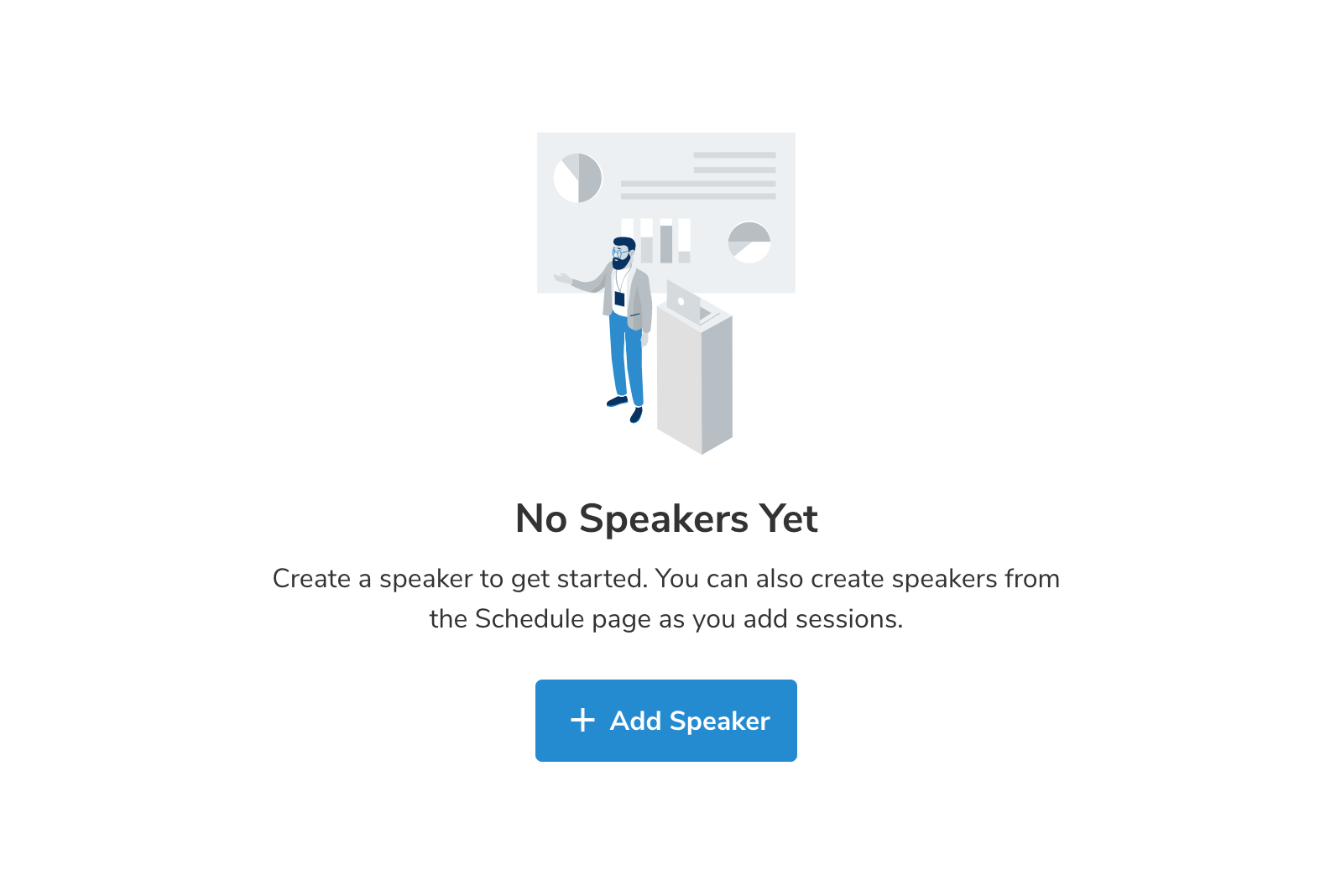 Sava app no speakers empty state
