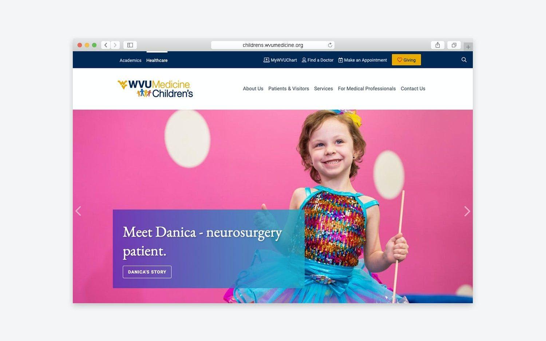 Website - desktop view