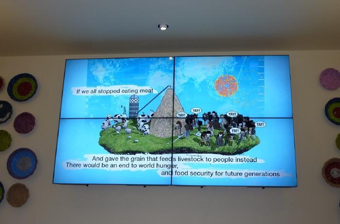Otarian restaurant big screen