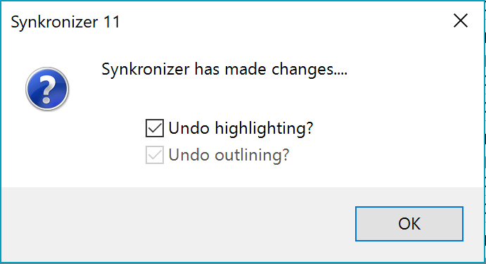 Synkronizer has made changes