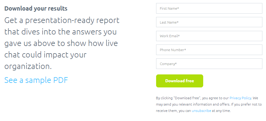Dowload your results