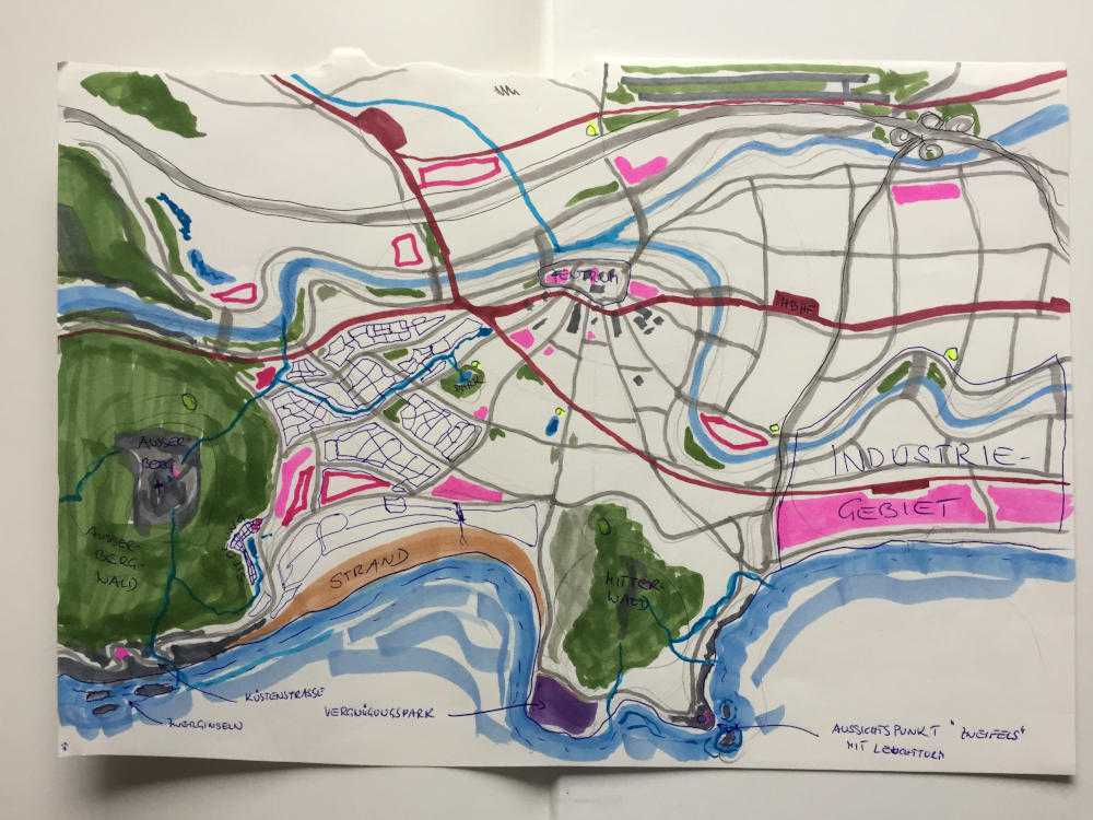 verfeinerter Entwurf des Stadtplans