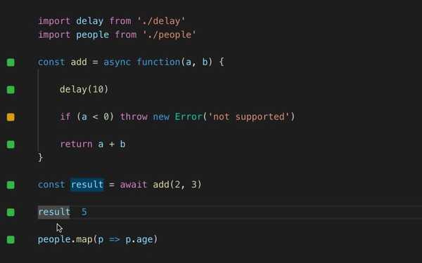 Quokka best visual studio extension for javascript developers