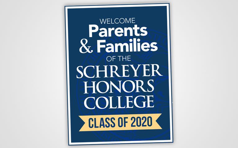 Schreyer Honors College Parents & Families Welcome Card