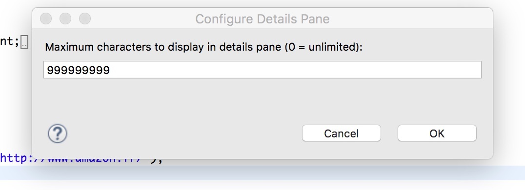 Detail Pane Eclipse IDE