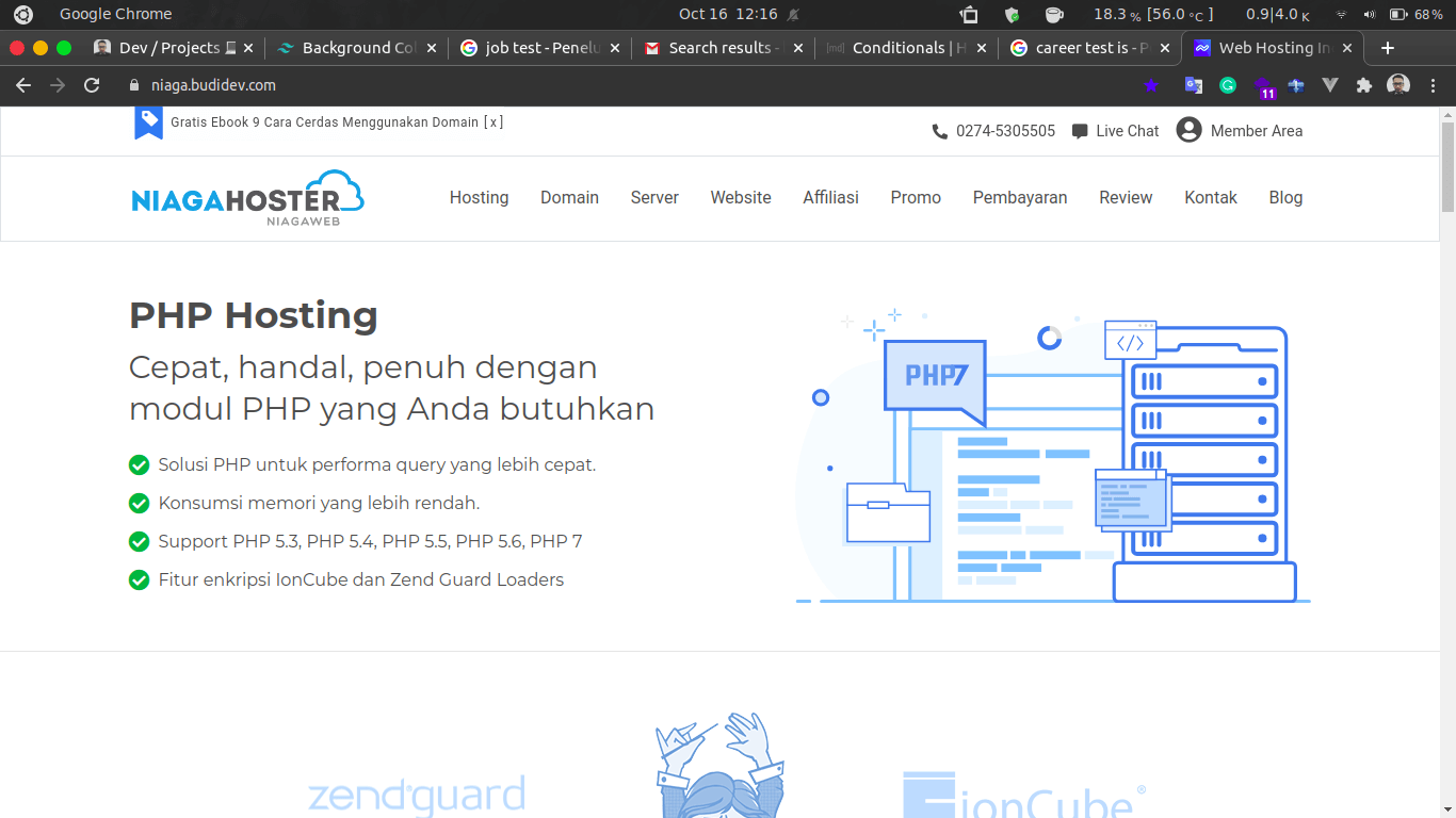 Niagahoster Landing Page