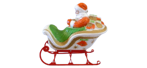 Illuminated Santa In Sled photo
